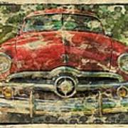 1949 Red Ford Coupe Poster