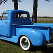 1950 Chevrolet Pick Up Baby Blue Poster