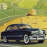 1950 Custom Ford - Square Format Image Picture Poster