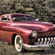 1950 Custom Mercury Subdued Color Poster