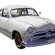 1950 Ford Custom Antique Car Poster