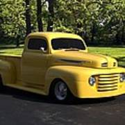 1950 Ford F1 Pickup Truck Poster