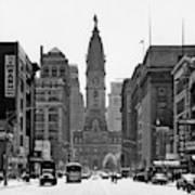 1950s Downtown Philadelphia Pa Usa Poster