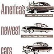 1951 - Kaiser Frazer Manhattan Automobile Advertisement - Color Poster