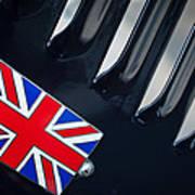 1951 Jaguar Proteus C-type British Emblem Poster