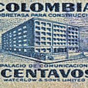 1952 Columbian Stamp Poster