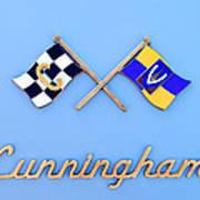 1952 Cunningham C-3 Vignale Cabriolet Emblem Poster