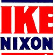 1952 Vote Ike And Nixon Poster