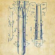 1953 Aerial Missile Patent Vintage Poster