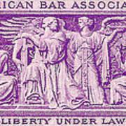 1953 American Bar Association Postage Stamp Poster