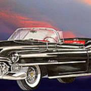 1953  Cadillac El Dorardo Convertible Poster