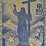 1953 Chile Stamp Poster