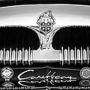 1953 Packard Caribbean Grille Emblem -1217bw Poster