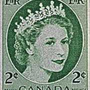 1954 Canada Stamp Poster