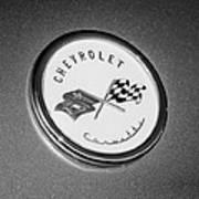 1954 Chevrolet Corvette Emblem -052bw Poster