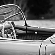 1954 Chevrolet Corvette Steering Wheel -407bw Poster