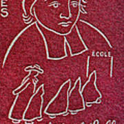 1954 De La Salle Monaco Stamp Poster