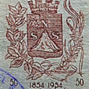 1954 El Salvador Stamp Poster