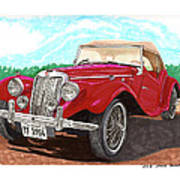 1954 M G T F  Poster