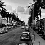 1954 Miami Beach Lincoln Road Poster