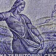 1954 Nebraska Territorial Stamp Poster