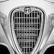 1955 Alfa Romeo 1900 Css Ghia Aigle Cabriolet Grille Emblem -0564bw Poster