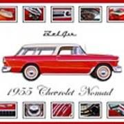 1955 Chevrolet Belair Nomad Art Poster