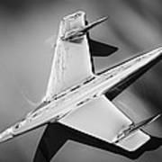 1955 Chevrolet Belair Nomad Hood Ornament -037bw Poster