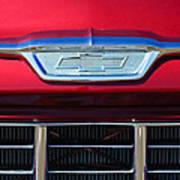 1955 Chevrolet Pickup Truck Grille Emblem Poster