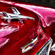 1955 Chevy Bel Air Hood Ornament Poster
