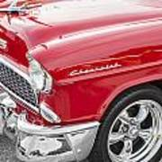 1955 Chevy Cherry Red Poster