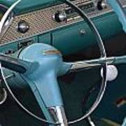 1955 Chevy Nomad Steering Wheel Poster
