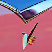 1955 Dodge Royal Lancer V8 Emblem -0639c Poster
