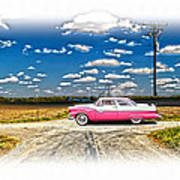 1955 Ford Crown Victoria Crossroads In Life Poster