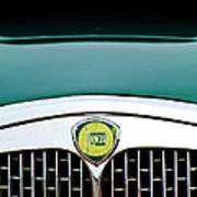 1955 Lancia Aurelia B24 Spyder America Roadster Grille Emblem Poster