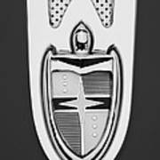 1955 Lincoln Indianapolis Boano Coupe  Emblem -0283bw Poster