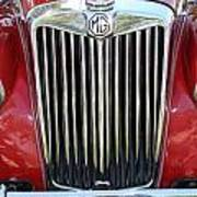 1955 Red Mg Grille Poster