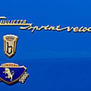 1956 Alfa Romeo Sprint Veloce Coupe Emblem Poster