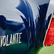1956 Aston Martin Short Chassis Volante Taillight Emblem Poster