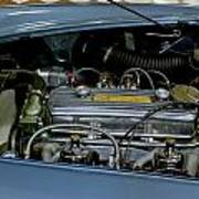 1956 Austin Healey Engine Poster