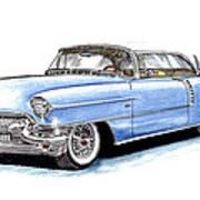 1956 Cadillac Coupe De Ville Poster