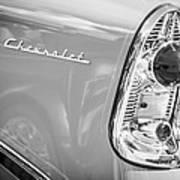 1956 Chevrolet 210 2-door Handyman Wagon Taillight Emblem -074bw Poster