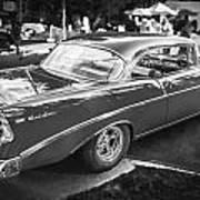 1956 Chevrolet Bel Air 210 Bw Poster
