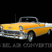 1956 Chevy Bel Air Convertible Poster