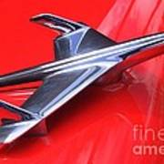 1956 Chevy Hood Ornament Poster