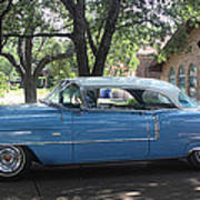 1956 Classic Cadillac Left View Poster