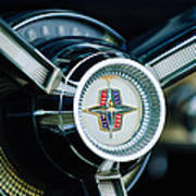 1956 Lincoln Continental Mark II Hess And Eisenhardt Convertible Steering Wheel Emblem Poster