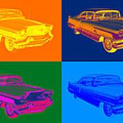 1956 Sedan Deville Cadillac Luxury Car Pop Art Poster