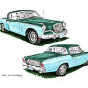 1956 Studebaker Coming And Going Poster