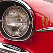 1957 Chevrolet Bel Air Headlight Poster